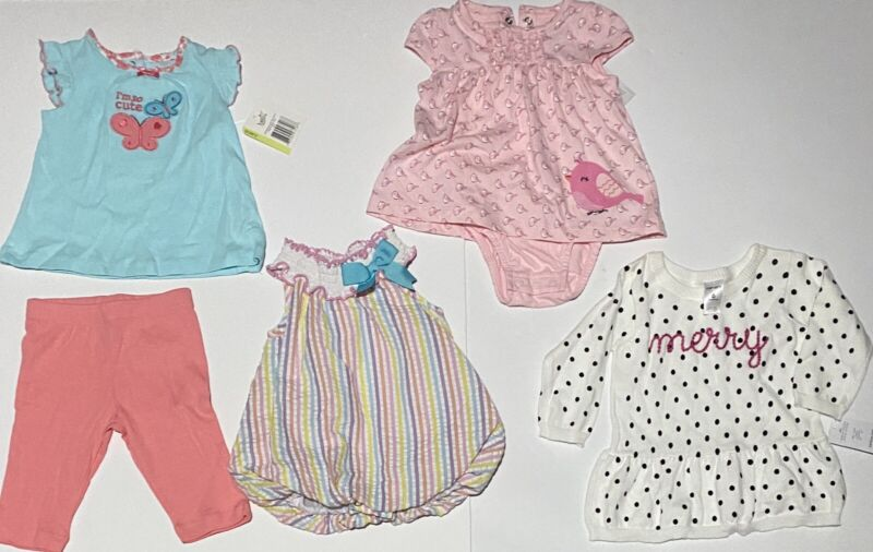Baby Girl Clothes Lot Of 4 Outfits 3-6 Months New W Tags - Carter's & More