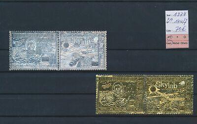 LO14318 Mauritania 1974 silver & gold foil Skylab fine lot MNH cv 70 EUR