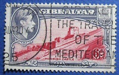 1938 GIBRALTAR 6d SCOTT# 113b S.G.# 126 USED  CS02030