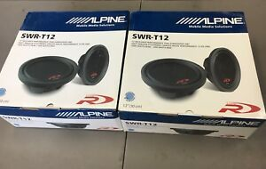 "Alpine SWR-T12 Subwoofers - 12"" Type R Thin"