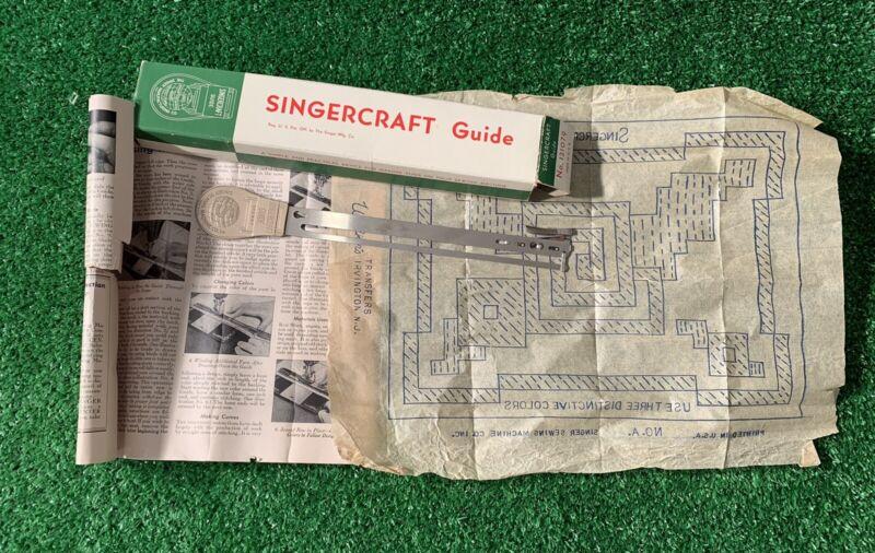 Vintage Tool Singercraft Guide Original Box, Tool & Instructions 1932