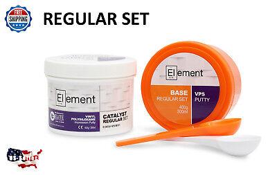 Element Putty Reg Set Vps Pvs Dental Impression 300 Ml Base Catalyst No Box
