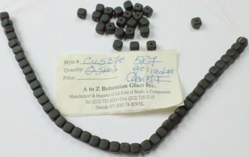 62 Vintage Pretty Deep Red Garnet Gemstone 5-5.5mm Square Cube Loose Beads New