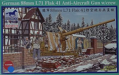 BRONCO CB35067 German 88mm Flak 41 Anti-Aircraft Gun w/Crew in 1:35