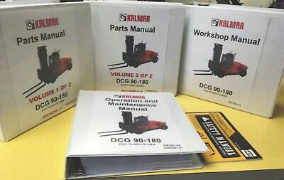 Kalmar Dcg 90 Thru 180 Forklift Complete Manual Set