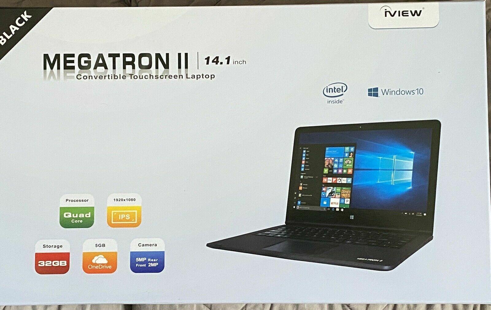 "Laptop Windows - iView MEGATRON II -14.1"" Convertible Touchscreen Laptop 32gb storage  Windows 10"