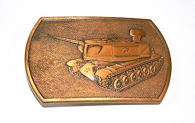 1970s US Army Tank Copper Colored Metal Belt Buckle Generic