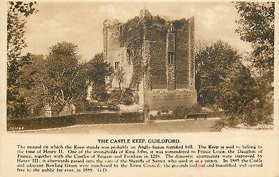 s09550 Castle Keep, Guildford, Surrey, England postcard unposted
