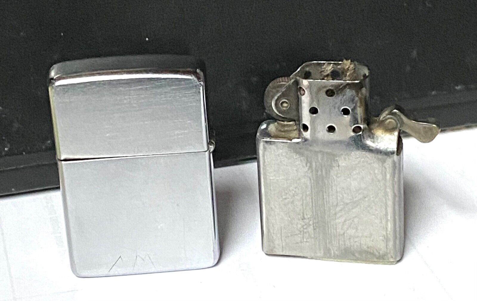 Zippo Lighter 1966 Brushed Steel
