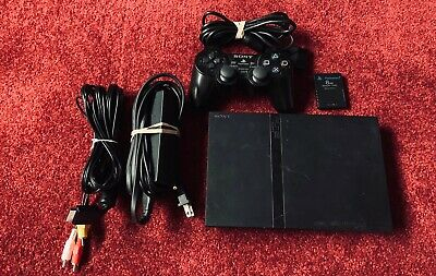 Sony PlayStation 2 - Slim Black Console - PS2 SCPH-77001 Tested - No Reserve!