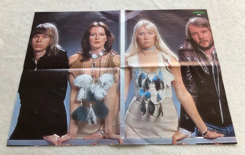 ABBA 1976 Poster Swedish Poster Magazine 1970s Vintage Rare