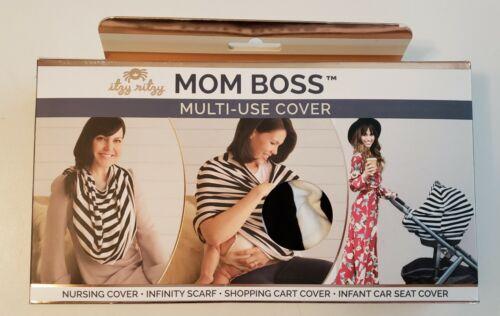 Itzy Ritzy Mom Boss 4-In-1 Multi Use Cover Black/White