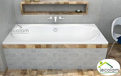 Badewanne Acryl Wanne Rechteck 180 x 80 cm Füße Ab/Überlauf Ablauf Silikon L