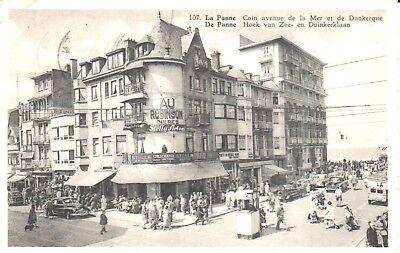 Carte Postale - De panne - La Panne - Coin avenue de la Mer er de Dunkerque