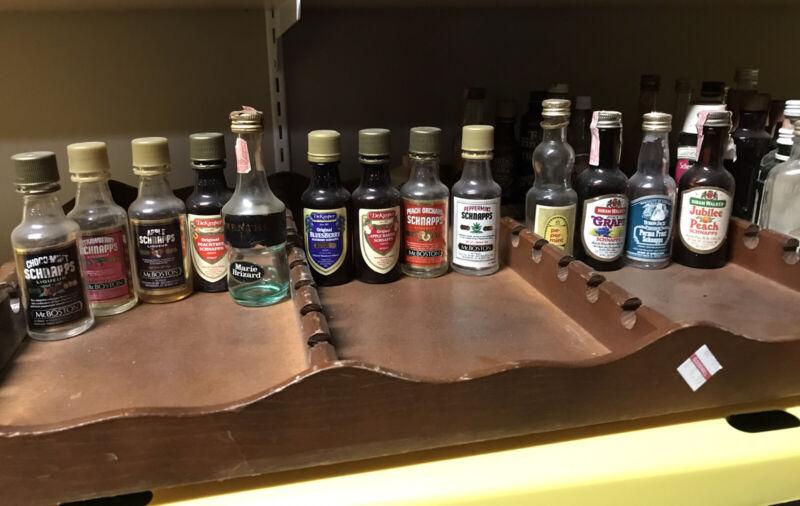 Mini Schnapps Bottle Lot (13) Alcohol Liquor Vintage EMPTY