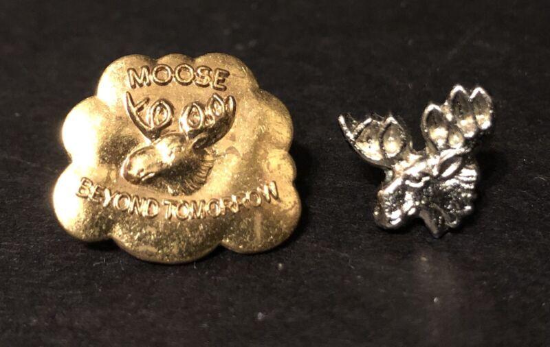 Vintage Estate PINS - Moose Lodge Beyond Tomorrow and Moose Head