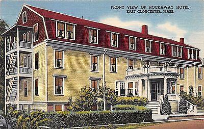 East Gloucester Massachusetts Rockaway Hotel Overlooks Outer Bay Postcard Wbz Tv