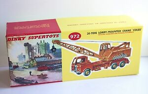 DINKY-Reproduction-Box-972-20-Ton-Lorry-Mounted-Crane-Coles