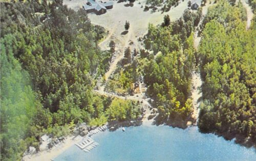 MN Park Rapids CAMP WILDERNESS Aerial View Boy Scouts of America postcard BS3