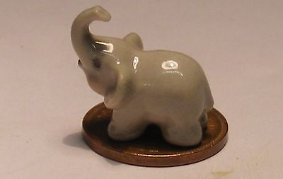 1:12 Scale Dolls House Miniature Ceramic Elephant Ornament Animal Accessory