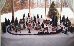 Department 56 Christmas Village and Train Set