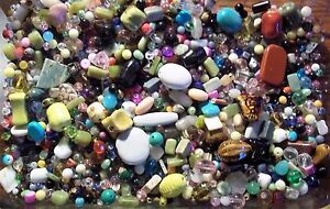 Wholesale Lot of New Assorted Jewelry Supplies-Beads, Findings,Gems, etc 1/4 lb.