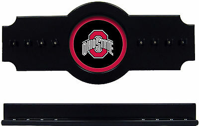 NCAA Ohio State Buckeyes 2 pc Hanging Wall Pool Cue Stick Holder Rack - - Ohio State Pool