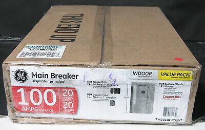 Ge Tm2010ccu 100-amp 20-spaces 20-circuit Main Breaker Load Center Circuit Break