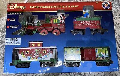 BRAND NEW LIONEL DISNEY CHRISTMAS BATTERY POWERED TRAIN SET
