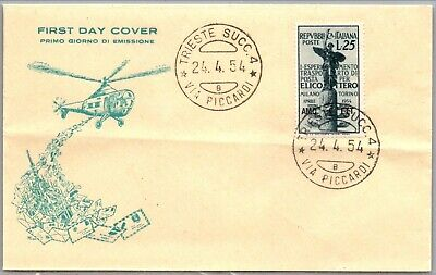 GP GOLDPATH: ITALY COVER 1954 FIRST DAY COVER _CV695_P04