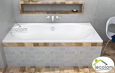 Badewanne Acryl Wanne Rechteck 180 x 80 cm Verkleidung Styroporschürze Ablauf L