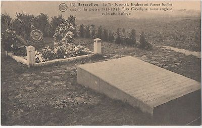 POSTCARD  MILITARY WWI BRUXELLES  Memorial  Edith Cavelll