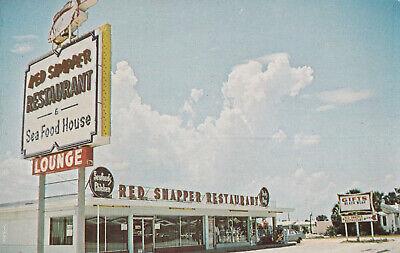 Red Snapper Restaurant & Seafood House Daytona Beach Florida Postcard 1960's