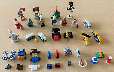 LEGO City Advent 60201 (2018) Minifigs/Toys - 99% COMPLETE (missing 2 pcs),CLEAN