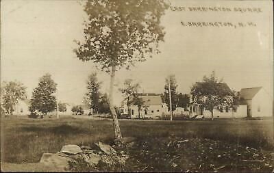 East Barrington NH Town Square c1910 Real Photo Postcard