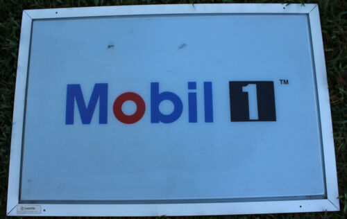 Mobil 1 Motor Oil Gas Station Pump Racing SIGN Gasoline Mechanic AD Lighted