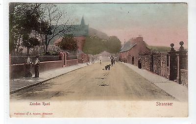 LONDON ROAD, STRANRAER: Wigtownshire postcard (C20677)