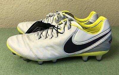 quality design 0d9c3 ac874 Nike Tiempo Legend VI AG ACC Grey Yellow Black Women s Sz 7.5 Soccer Cleats  NEW!