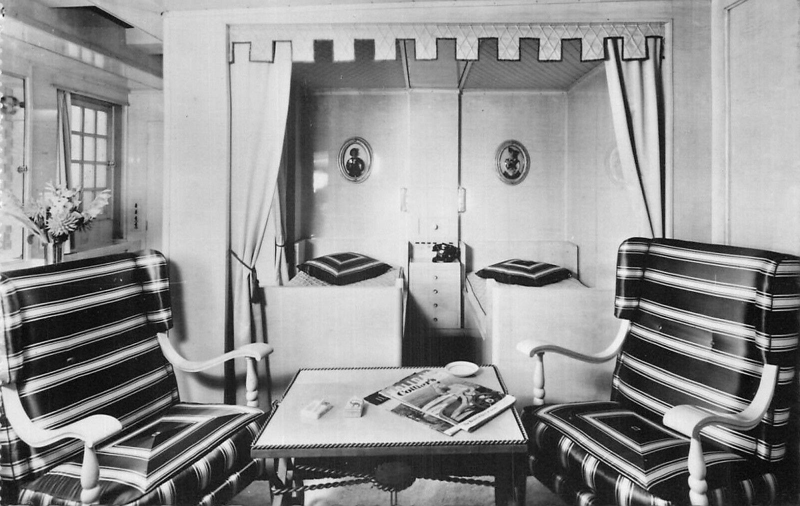 Cp paquebot liberte appartement de luxe alsace 1ere classe