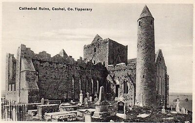 CATHEDRAL RUINS CASHEL CO. TIPPERARY IRELAND LAWRENCE IRISH POSTCARD