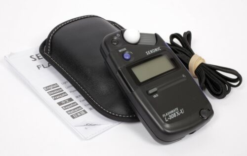 Sekonic L-308x-u Flashmate Light Meter 401-305 with manual and pouch