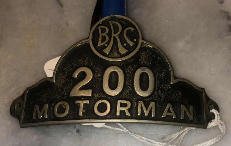 BRC Motorman Hat Badge  Binghamton New York