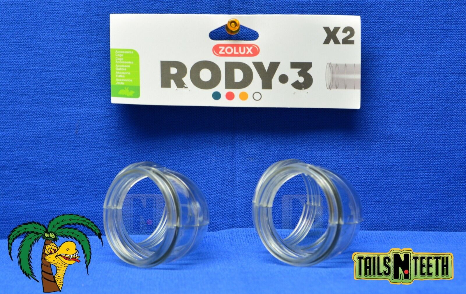 Zolux RODY-3 Angle Tube For Rody-3 InterConnecting Cages - 2 Pack - CA$3.99