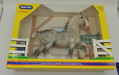 Breyer Horse Classics Dapple Gray Shire Red White Ribbons 627 Sealed in Box NEW