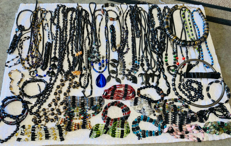 HEMATITE Jewelry Lot 5 Plus Pounds