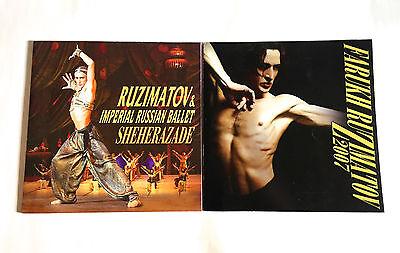 FARUKH RUZIMATOV lot of 2 JAPAN SOUVENIR PROGRAM BOOK 2006 & 2007 Ballet Dance