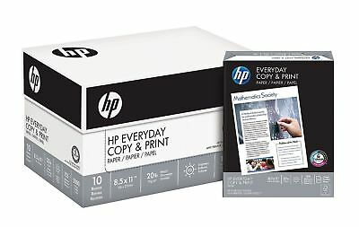 Hp Everyday Copy Print Paper 20lb 92 Bright 8 12 X 11 5000 Sheets Acidfree