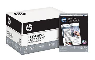 Hp Everyday Copy Print Paper 20lb 92 Bright 8 12 X 11 5000 Sheets..