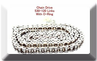 Chrome Plated 530-120 Link O-ring Chain Motorcycle fits Harley Sportster Dyna