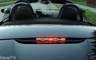 Porsche Boxster 987 S 3rd brake light decal overlay 05 06 2007 08 09 2010 2011